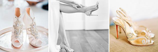 Ideas de Zapatos de Novia Glamourosos