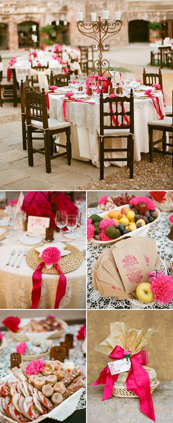 Comida en la boda Mexicana
