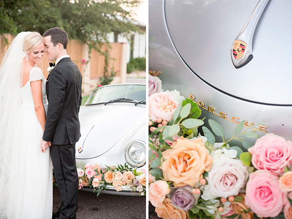 Decorar el auto de los novios con rosas |  Ideas para decorar la boda con rosas