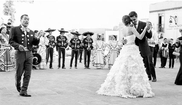 Mariachi en una boda mexicana