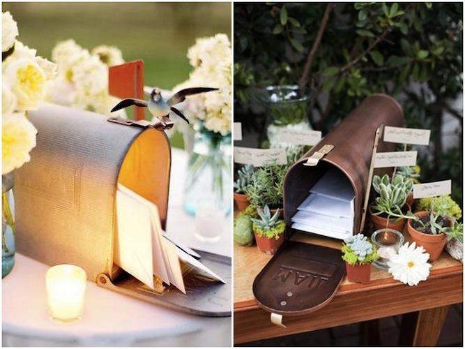 Buzón para la recepción de los sobres con dinero | Cómo pedir dinero como regalo de boda