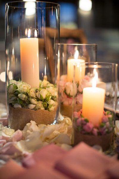 Decora e ilumina la boda con velas el blog de una novia - Centros con velas ...