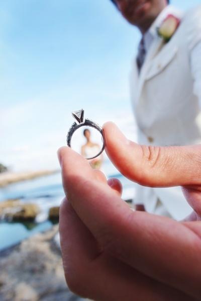 Idea para foto con anillo de compromiso