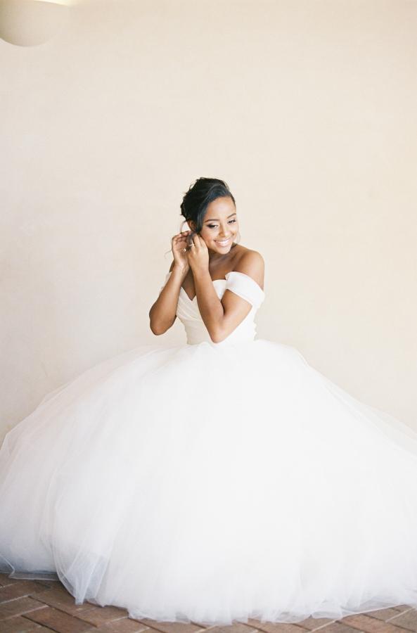 Vestido de Novia estilo princesa con falda amplia