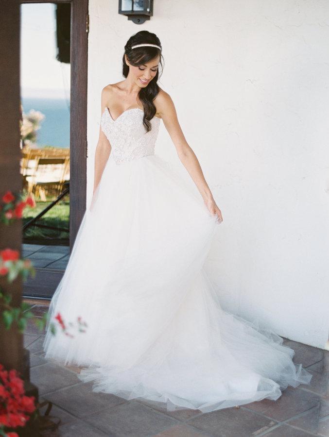 Vestido de Novia estilo princesa - falda con tul