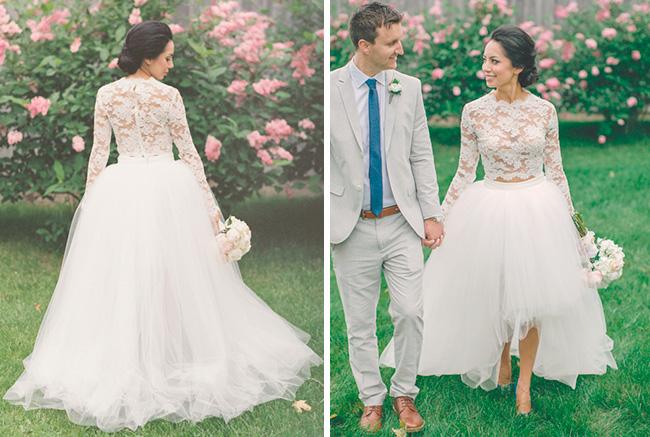 Vestido de Novia estilo princesa en dos piezas