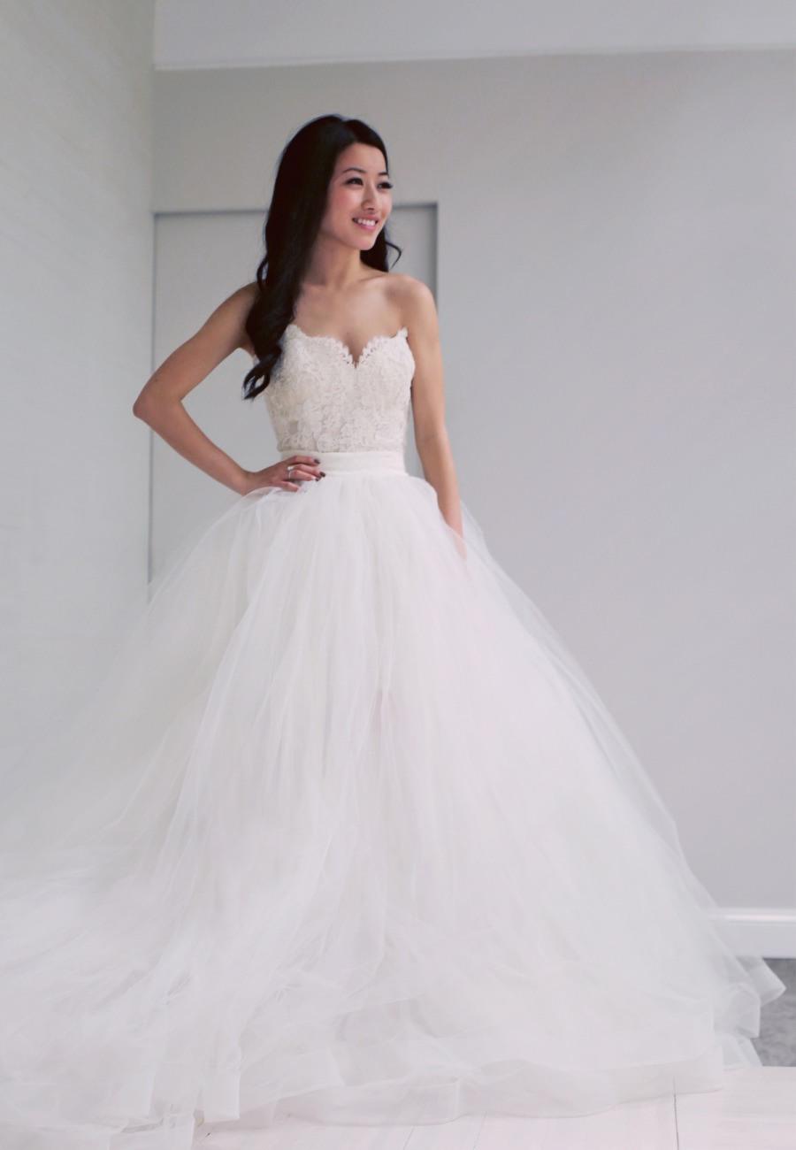 Vestido de Novia estilo princesa escote corazon