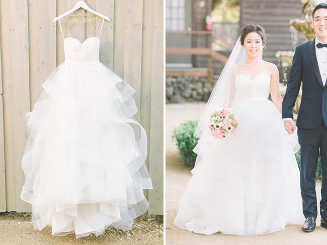 Vestido de Novia estilo Princesa - Falda con olanes
