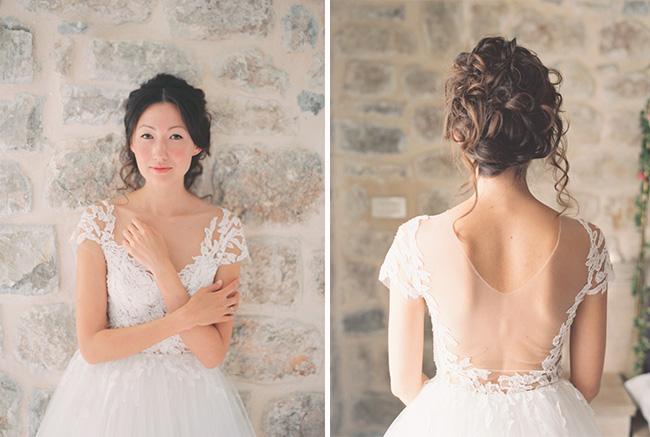 Vestido de Novia estilo princesa - Encaje en el top
