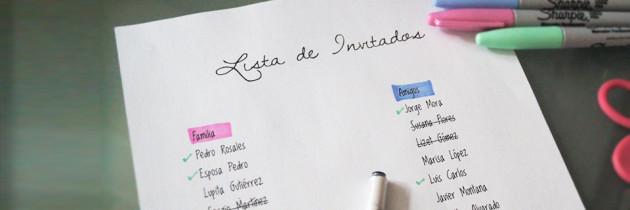 ¿Cómo hacer la lista de invitados y a quién invitar a la boda?