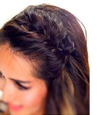 Peinado diadema de trenza cola de pescado