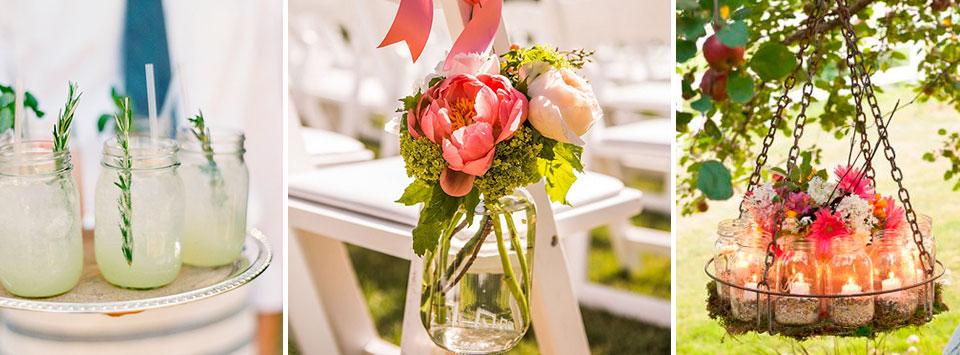ideas de frascos de vidrio para la boda el blog de una novia