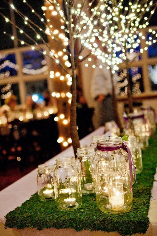 Mason Jars con velas