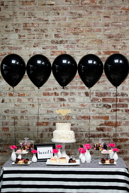 Decoración con globos para despedida mixta