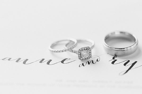 Alianzas de matrimonio oro blanco