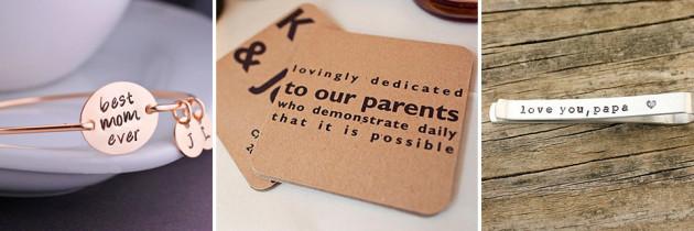 12 Ideas de regalos para los papás de los Novios
