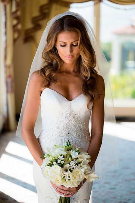 peinados de novia cabello suelto cabello suelto con ondas