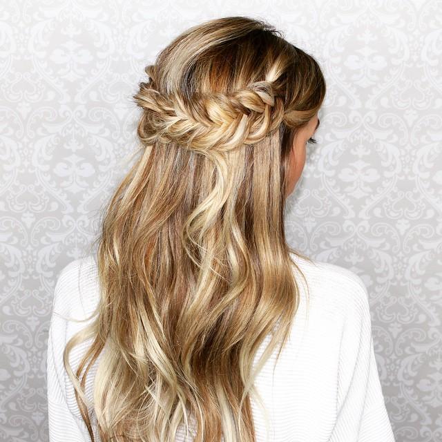 25 peinados de novia con pelo suelto el blog de una novia for Semirecogido rizado