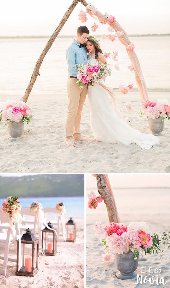 Arco para ceremonia de boda en la playa