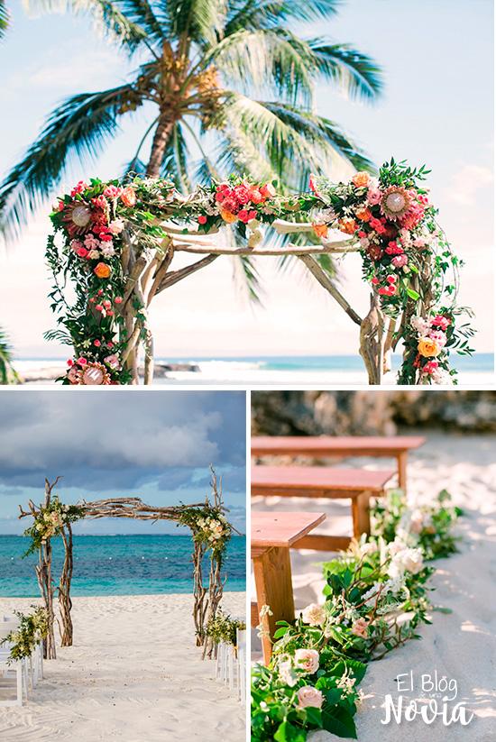 Arco para boda en la playa