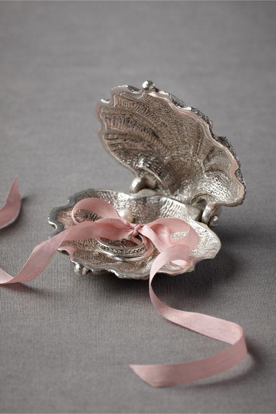 Para los anillos de boda - Ideas para una boda en la playa