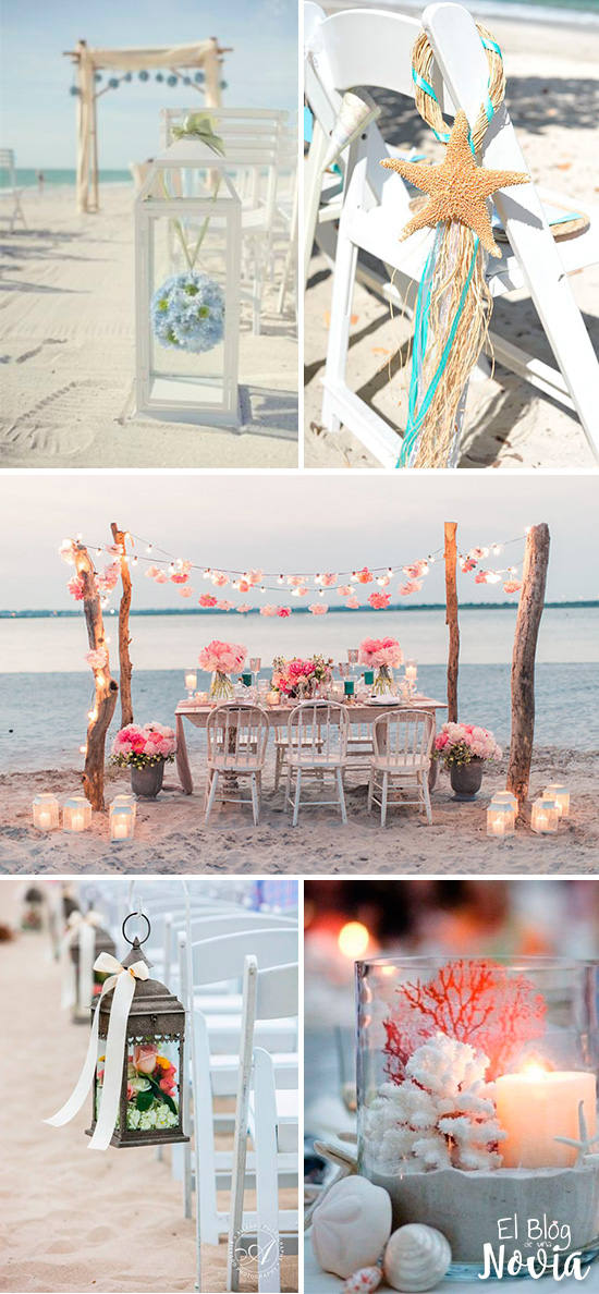 Boda en la playa: Ideas de decoración