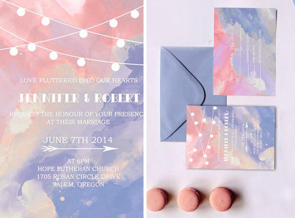 Invitaciones de boda colores 2016