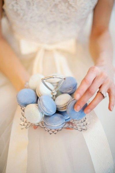 Macaroons azules para la boda