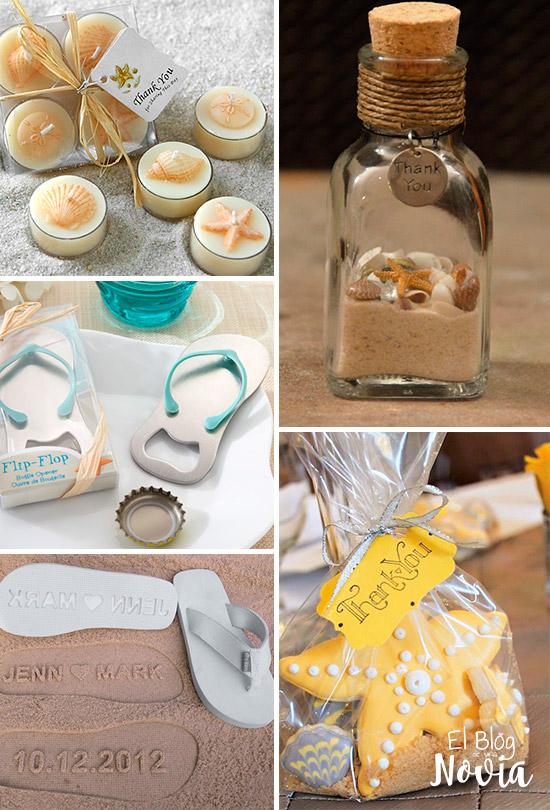 Recuerditos para los invitados - Ideas para una boda en la playa