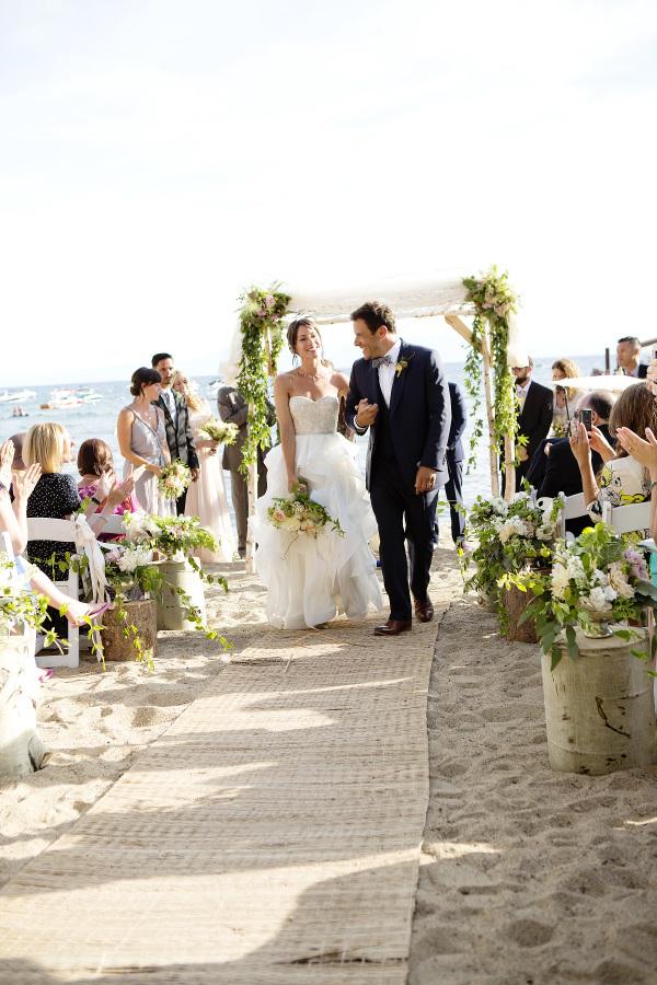 Un tapete para que la novia camine hacia el altar con mayor facilidad