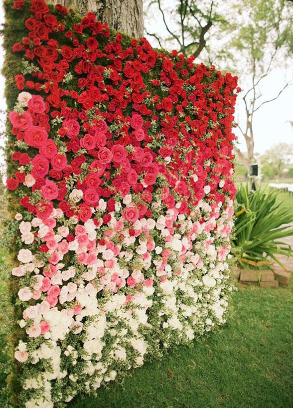 Fondo de flores naturales para