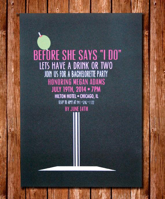 Ideas de invitaciones para la despedida de la novia