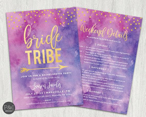 Invitaciones para la fiesta de la novia