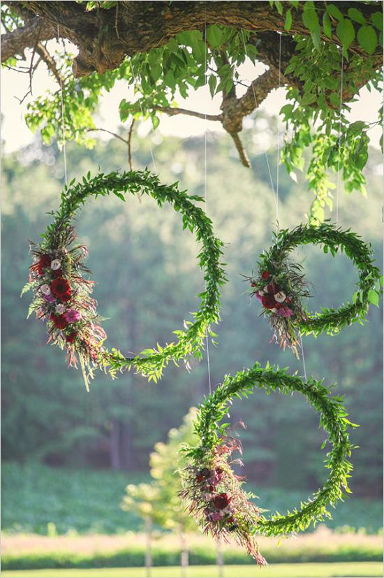 Rincón con marcos de hojas