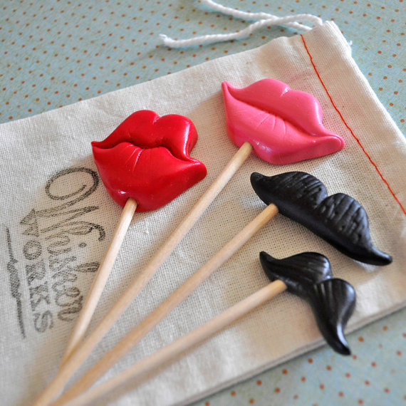 Props de labios y bigotes para fotos divertidas