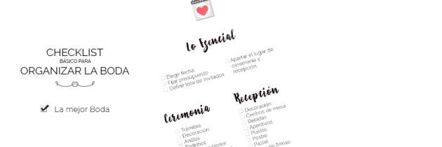 Checklist básico para Organizar la Boda
