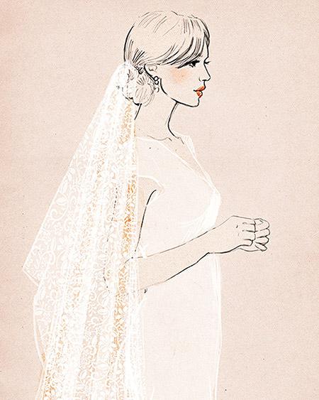 Guía para elegir el velo de novia