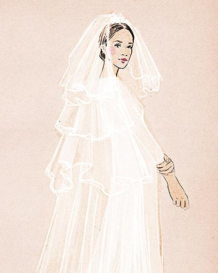 Velo en capas -  Los diferentes tipos de velo de novia