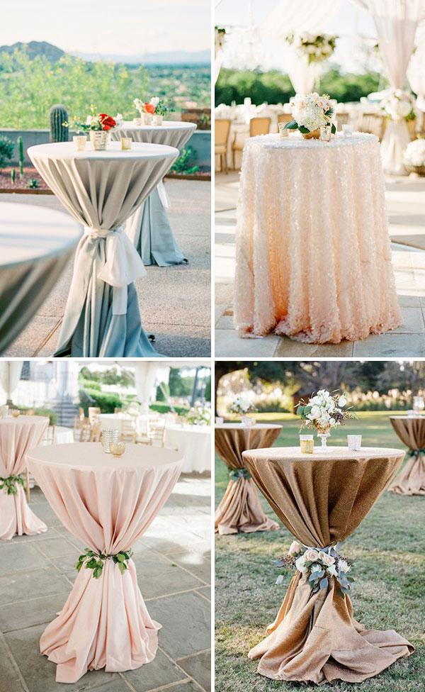 Mesas cocteleras para la boda