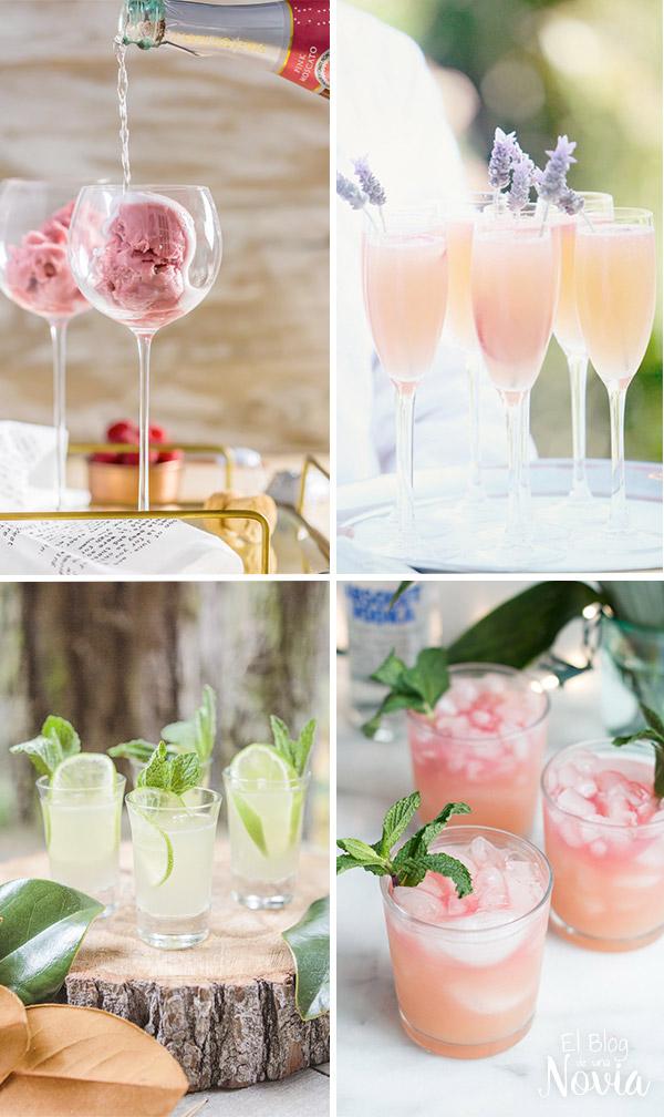 Bebidas de bienvenida en la boda