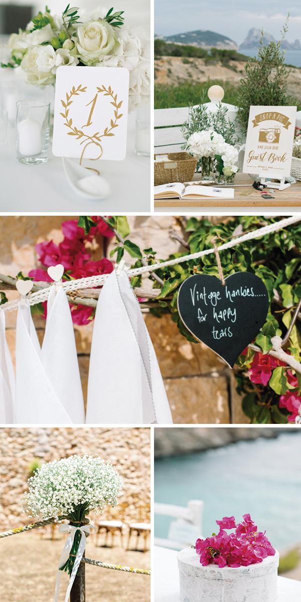 Decoración en las bodas de Ibiza