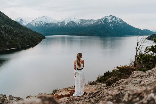 Novia en La Patagonia