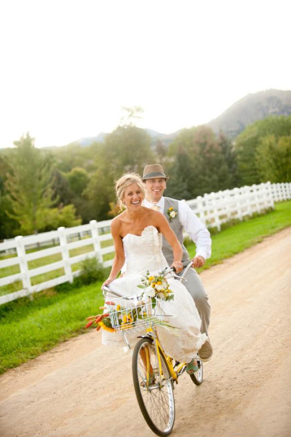 Bicicleta como coche de boda