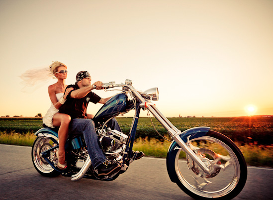 Moto: Ideas alternativas al coche de bodas