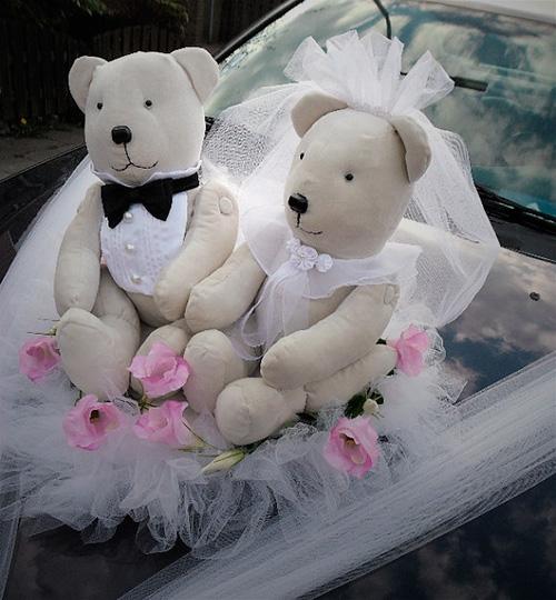 Ideas para decorar el coche de bodas