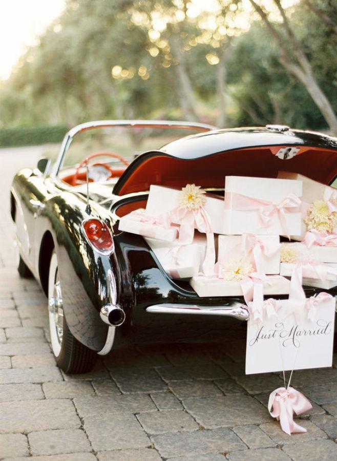 Regalos: Ideas para decorar el coche de bodas