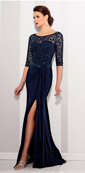 Vestido de noche Cameron Blake en color azul