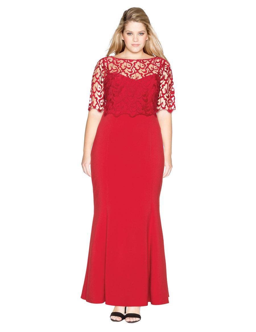 Vestido de fiesta en rojo