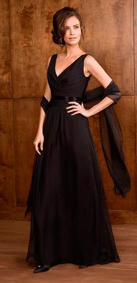 Vestido fiesta en color negro