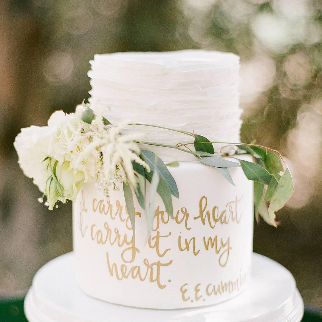 Pastel de boda pintado